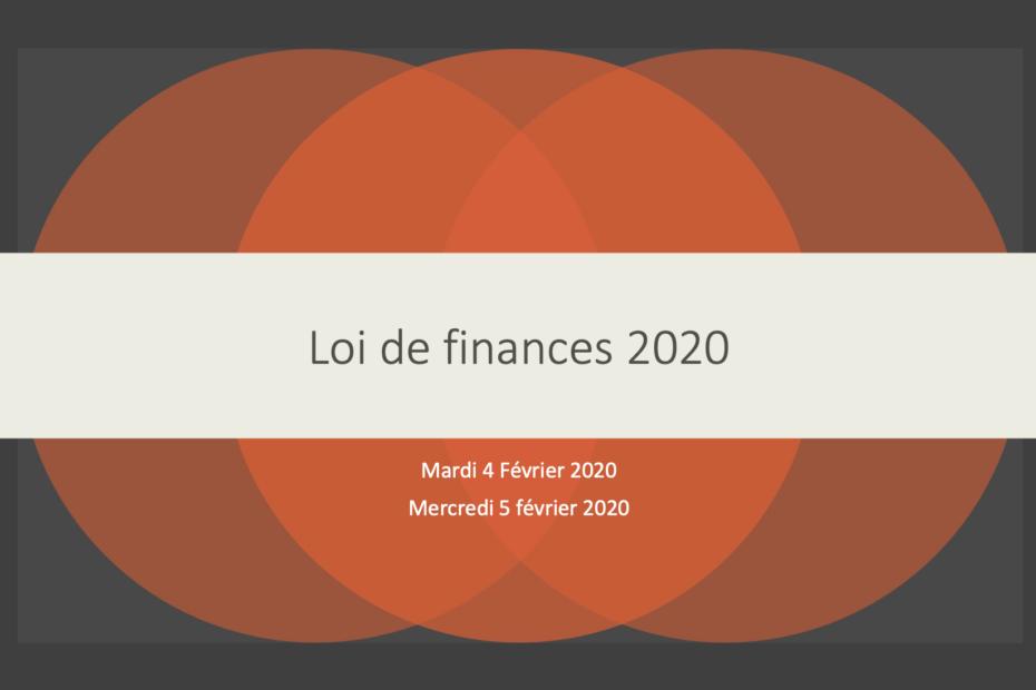 Loi de finance 2020
